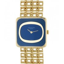 Patek Philippe Vintage Yellow gold 25mm Blue No numerals