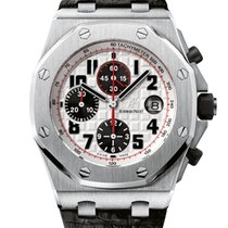 Audemars Piguet Royal Oak Offshore Chronograph Stahl 42mm Silber Arabisch