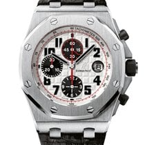 Audemars Piguet Royal Oak Offshore Chronograph Aço 42mm Prata Árabes