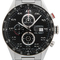 TAG Heuer Carrera Calibre 1887 Steel 43mm Black Arabic numerals United Kingdom, Wilmslow