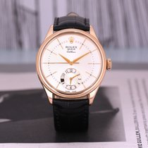 Rolex Cellini Dual Time Ροζέ χρυσό