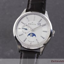 Zenith Acier Remontage automatique Argent 40mm occasion Captain Moonphase