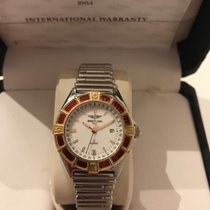 Breitling Lady J Gold/Steel 30mm White