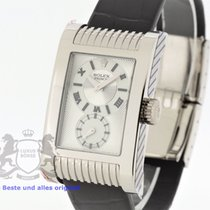 Rolex Cellini Prince Or blanc 27.5mm Argent Romain