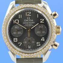 Omega Speedmaster Lady Stahl/18kt Roségold Automatik Diamond 38mm
