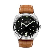 Panerai PAM00323, Radiomir, Black Dial, Steel and Leather