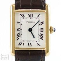 Cartier Uhr Tank Vermeil Unisex Revision Gravur