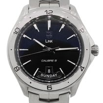 TAG Heuer WAT2010 Day Date Stainless Steel Link Calibre 5...