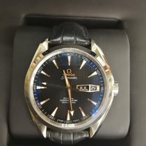 Omega Or blanc Remontage automatique Sans chiffres 41.5mm occasion Seamaster Aqua Terra
