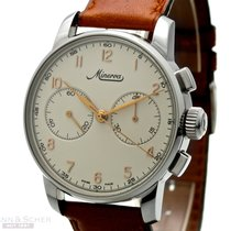 Minerva Chronograph Manual winding 1999 pre-owned Silver