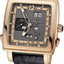 Ulysse Nardin Quadrato Dual Time Perpetual Rose gold 42mm Black Arabic numerals