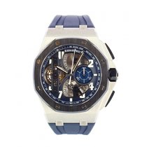 Audemars Piguet Royal Oak Offshore Tourbillon Chronograph Platin 42mm Blau