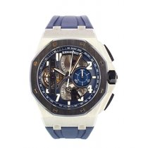 Audemars Piguet Royal Oak Offshore Tourbillon Chronograph Platinum 42mm Blue