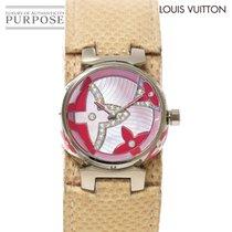 Louis Vuitton Witgoud Quartz Roze 28mm tweedehands