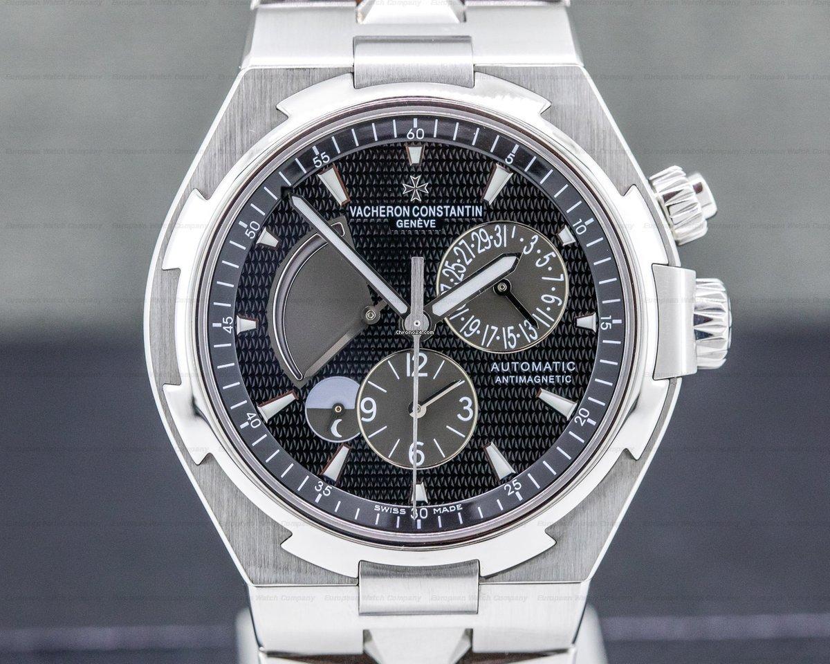 Vacheron Constantin 47450-B01A-9227 Overseas Dual Time SS/SS Black Dial  (32302)