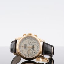 Patek Philippe Perpetual Calendar Chronograph Aur roz Argint