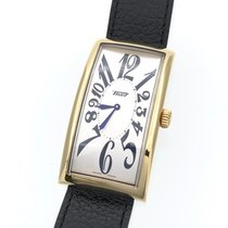 티쏘 스틸 쿼츠 Tissot banana watch Z181 QZ leather belt 중고시계