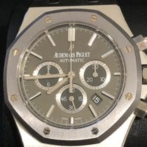 愛彼 Royal Oak Chronograph 鋼 41mm 灰色 無數字