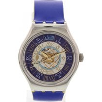 Swatch Platinum Automatic Watch 00123 Moon Phase Dial