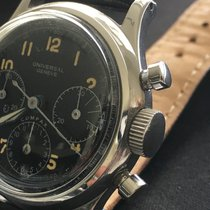 Universal Genève Vintage 1950's Compax Stainless Steel ...