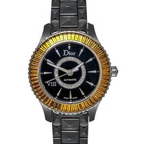 Dior VIII Black Ceramic and White Gold Ladies Automatic Watch...