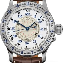 Longines Lindbergh Hour Angle pre-owned White Buckle
