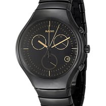 Rado True Chronograph Black Ceramic Mens Watch Calendar Quartz...
