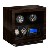 Beco Brushless motor (BLDC) watch winder for  2 watches,  walnut