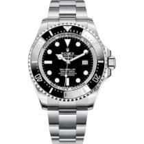 Rolex Sea-Dweller Deepsea Сталь 44mm Черный Без цифр