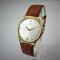 Jaeger-LeCoultre Yellow gold Manual winding Silver Arabic numerals 34mm pre-owned Master Ultra Thin