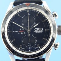 Oris Artix GT pre-owned 44mm Black Chronograph Date Leather