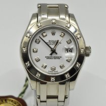 Rolex 80319 Or blanc Lady-Datejust Pearlmaster 29mm occasion