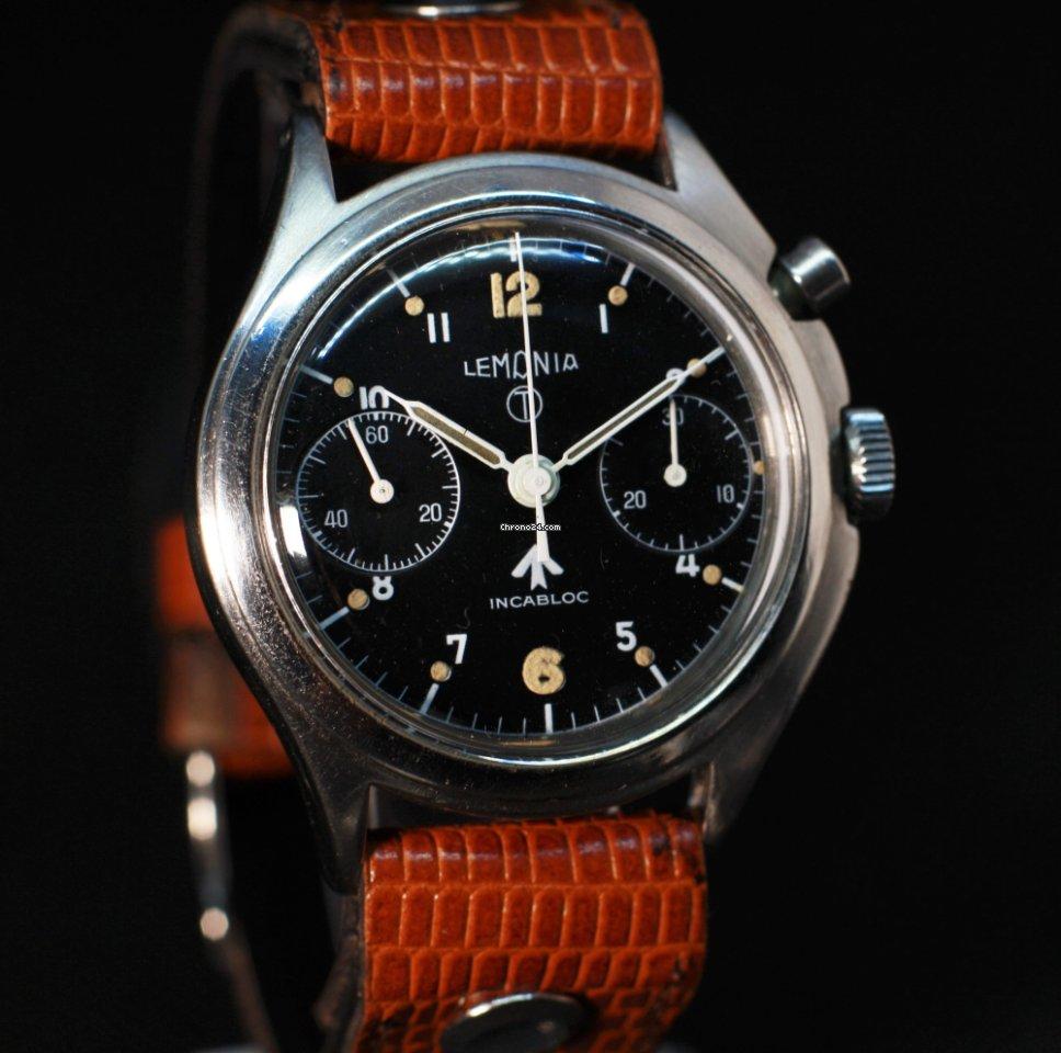 Lemania British RAF Chronograph, Circa 1962 1962 new