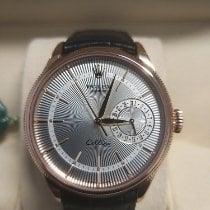 Rolex Cellini Date Roségold 39mm Silber Keine Ziffern