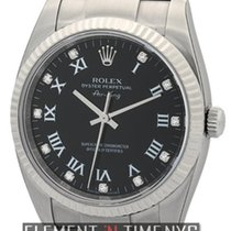 Rolex Air-King 34mm Steel Black Diamond Dial