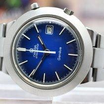 Omega Genève Steel 42mm Blue No numerals Singapore