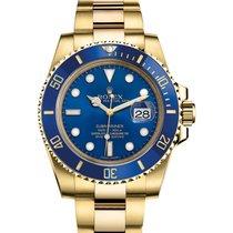 Rolex Submariner Date Blue 18K Yellow Gold Ceramic Submariner Date 2020 новые