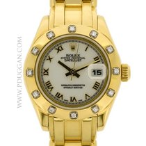 Rolex 18k yellow gold ladies Pearlmaster