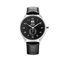 Cerruti CRA102A222K Venere Men's Black Watch with Leather Strap