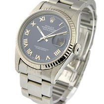 Rolex Used 16234_used_blue roman Datejust in Steel with Fluted...
