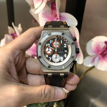 Audemars Piguet Steel Automatic Silver (solid) Arabic numerals 42mm pre-owned Royal Oak Offshore Chronograph