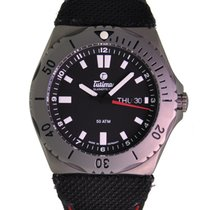 Tutima M2 Seven Seas Titanium Black Dial Black Kevlar Strap...