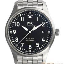 IWC Pilot Mark Aço 40mm Preto Árabes