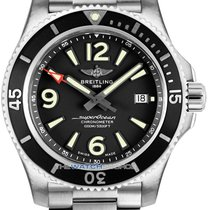 Breitling Steel Automatic Black 44mm new Superocean 44