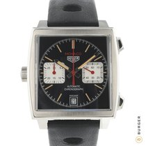 TAG Heuer Monaco Calibre 11 Stål 40mm Sort