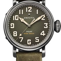 Zenith Pilot Type 20 Extra Special Steel 40mm Green Arabic numerals