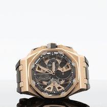 Audemars Piguet Royal Oak Offshore Tourbillon Chronograph Pозовое золото 44mm Чёрный Без цифр
