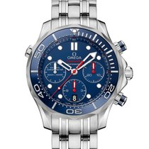 Omega Seamaster Diver 300 M Steel 44mm Blue No numerals