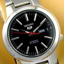 Seiko 5 Acier 37mm Noir Sans chiffres