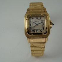 Cartier Santos Galbée Жёлтое золото 29mm Белый Римские